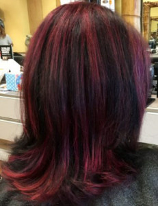 violet hairpainting