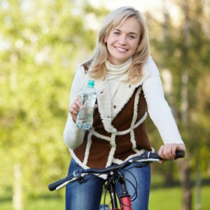 Biking during the fall